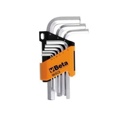 Set di 9 chiavi esagonali piegate maschio beta 1,5 - 10 mm