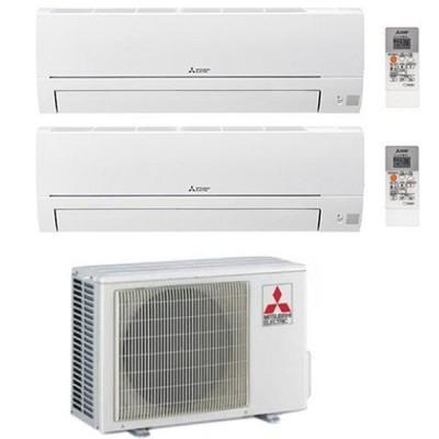 CLIMATIZZATORE MITSUBISHI HR DUAL SPLIT 9000+12000+MXZ-2HA40VF INVERTER