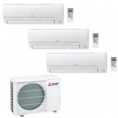 CLIMATIZZATORE MITSUBISHI HR TRIAL SPLIT 9000+9000+9000+MXZ-3HA50VF INVERTER